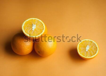 Pomarańcze trzy pomarańczy pomarańczowy pić fotografii Zdjęcia stock © raduga21