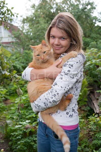 Let's go to my home, cat Stock photo © raduga21