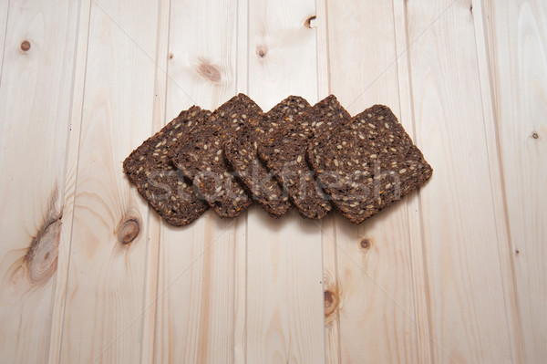 Sztuk chleba żyto słonecznika nasion Zdjęcia stock © raduga21