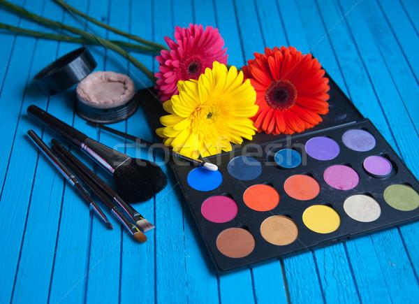 Palety kwiat niebieski tabeli moda Zdjęcia stock © raduga21
