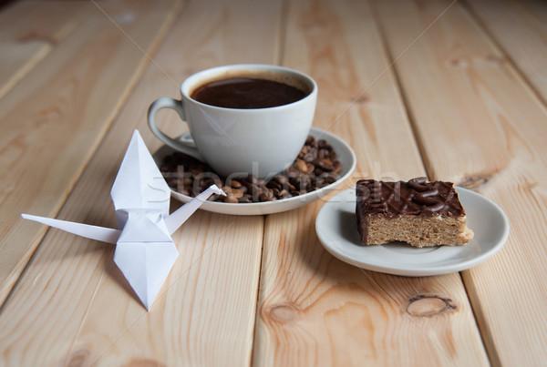 コーヒー ケーキ 朝食 表 食品 ストックフォト © raduga21