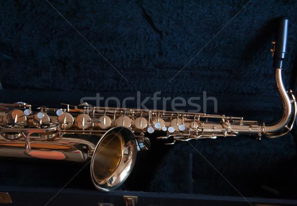 Saksofon vintage żółty złota kolor dźwięku Zdjęcia stock © raduga21