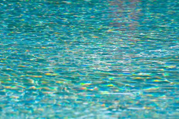 Zwembad turkoois water kleurrijk oppervlak zwembad Stockfoto © rafalstachura