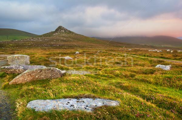 半島 丘 アイルランド ストックフォト © rafalstachura