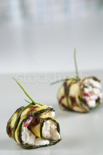 Cukkini előétel kettő előételek töltött sajt Stock fotó © rafalstachura