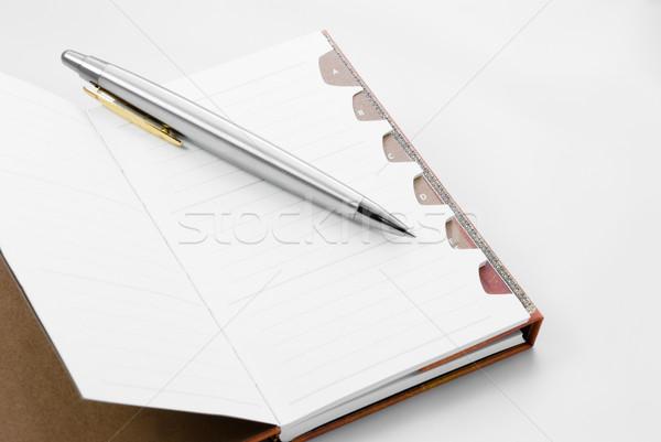 Bloco de notas abrir escolas caneta espaço escrita Foto stock © rafalstachura
