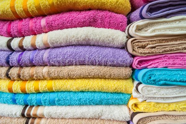 Colorido banho toalhas Foto stock © rafalstachura