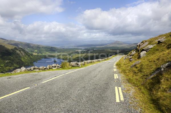 ストックフォト: 風光明媚な · 道路 · 山 · 公園 · アイルランド · 空