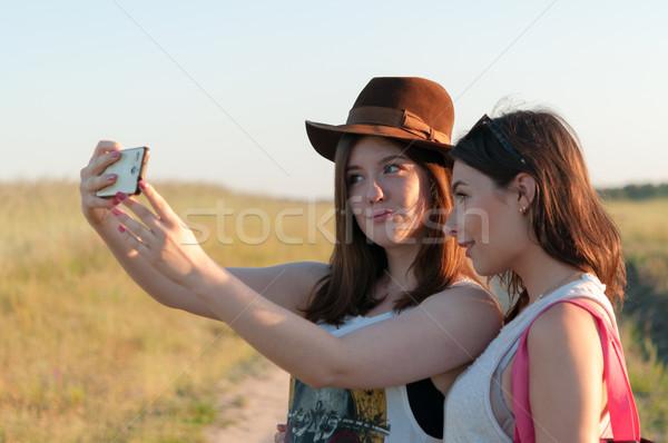два улице девушки Сток-фото © rafalstachura