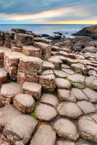 Norte Irlanda único lava rochas formação Foto stock © rafalstachura