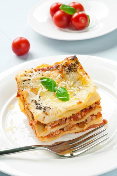 Lasagne lasagna carne cena pasta Foto d'archivio © rafalstachura