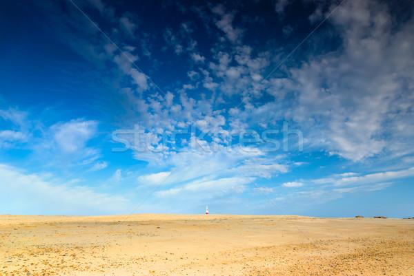 Areia céu praia blue sky nuvens praia Foto stock © rafalstachura