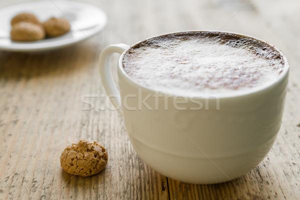 Tasse café table en bois vieux rustique alimentaire Photo stock © rafalstachura