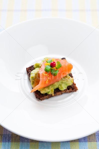 Saumon sandwich brun pain avocat Photo stock © rafalstachura