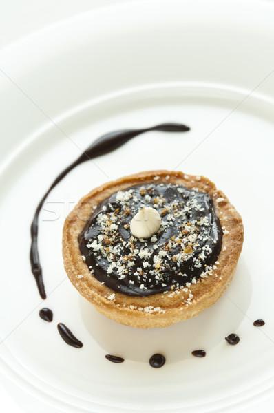 Mini cioccolato crostata nocciola top alimentare Foto d'archivio © rafalstachura