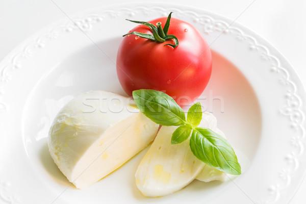 моцарелла томатный свежие базилик салат Капрезе Ингредиенты Сток-фото © rafalstachura