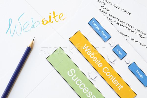 Site succès web design projet écriture diagramme Photo stock © rafalstachura
