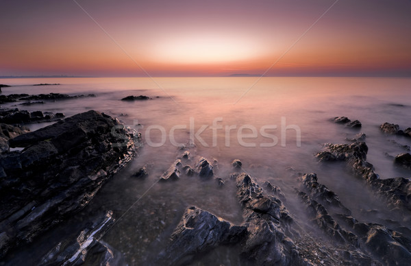 Sunrise Irlande irlandais longue exposition coucher du soleil nature Photo stock © rafalstachura