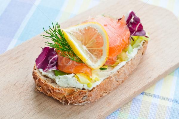 Sandwich soft formaggio verdura verde Foto d'archivio © rafalstachura
