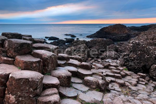 Szenische Ansicht Basalt Felsformation nördlich Stock foto © rafalstachura
