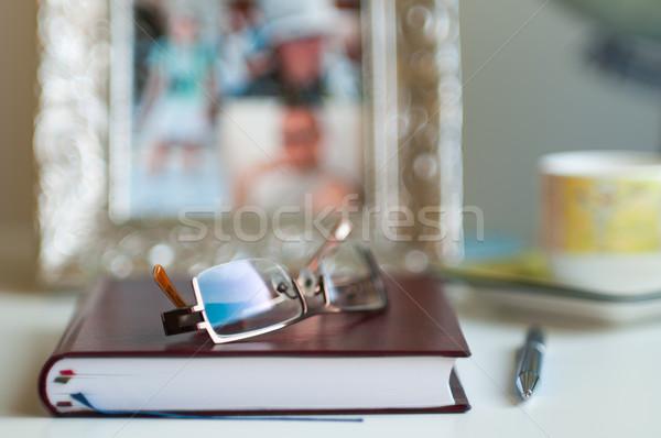 расплывчатый ноутбук пер очки Сток-фото © rafalstachura