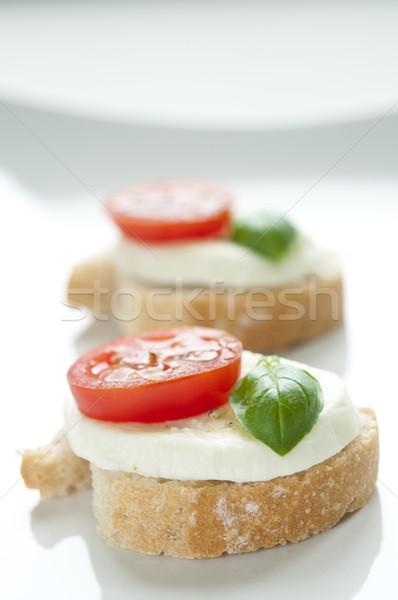Apéritif tomate basilic pain fromages sandwich Photo stock © rafalstachura