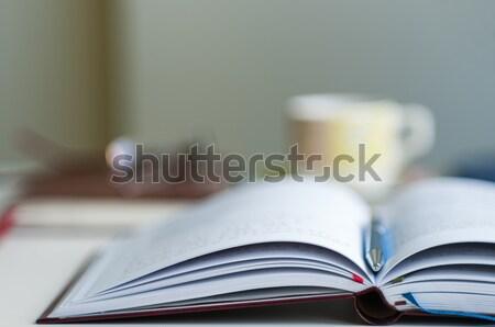 открытых ноутбук расплывчатый мелкий бизнеса Сток-фото © rafalstachura