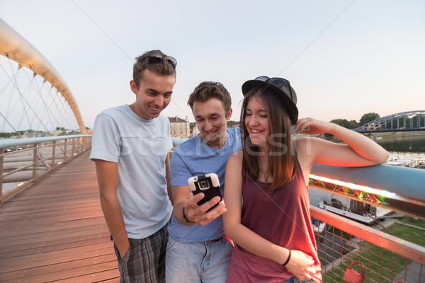 три друзей моста группа Сток-фото © rafalstachura