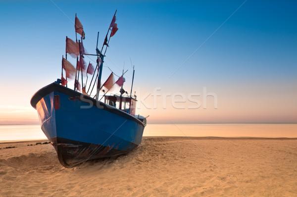 Vieux mer baltique côte plage de sable wallpaper Photo stock © rafalstachura