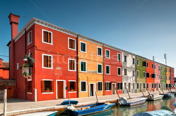 Venise coloré maisons bateaux canal île Photo stock © rafalstachura