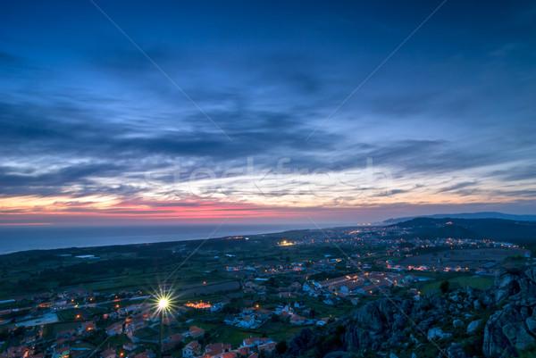 Evening View Over Small Town Stock photo © rafalstachura