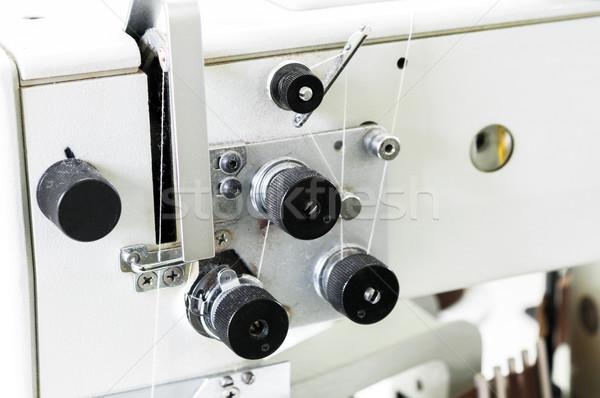 Old Type Sewing Machine Closeup Stock photo © rafalstachura