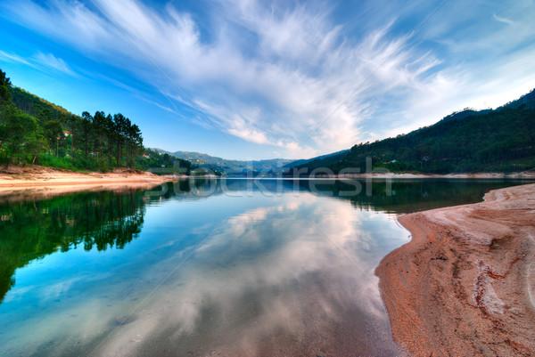 Ciel eau lac parc ciel bleu nuages Photo stock © rafalstachura