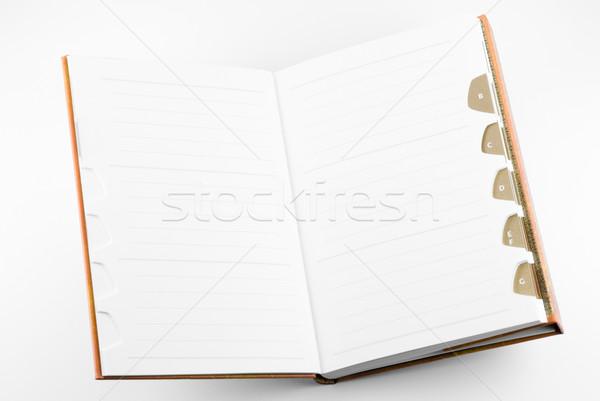 Photo stock: Notepad · ouvrir · école · espace · écrit · portable