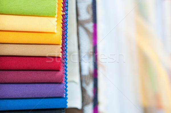 Colorido tecido pormenor têxtil Foto stock © rafalstachura