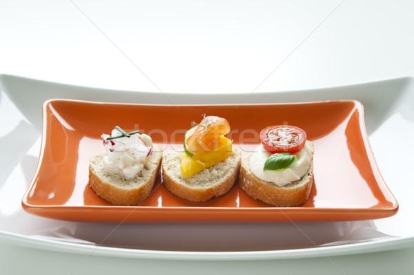 Crostini Appetizers Stock photo © rafalstachura