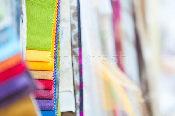 Kolorowy tkaniny szczegół włókienniczych Zdjęcia stock © rafalstachura