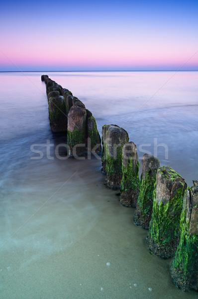 Breakwater Sunset Stock photo © rafalstachura