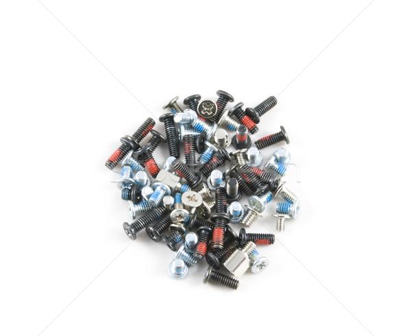 Veel machine geïsoleerd witte achtergrond Stockfoto © rafalstachura