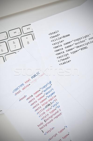 Html programação escrita computador tecnologia Foto stock © rafalstachura