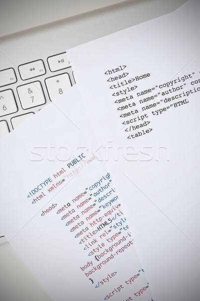 Html programlama bilgisayar klavye komut bilgisayar teknoloji Stok fotoğraf © rafalstachura