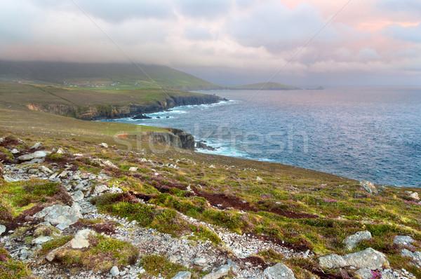 Sceniczny widoku zachód wybrzeża Irlandia półwysep Zdjęcia stock © rafalstachura