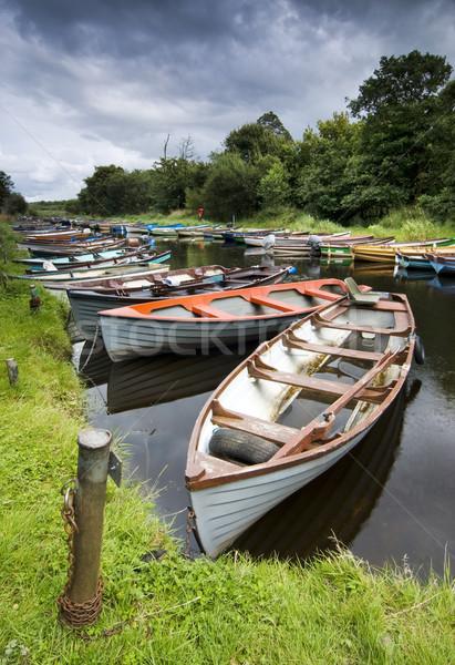 лодках реке парка Ирландия трава природы Сток-фото © rafalstachura