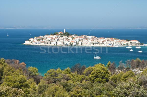Croatie vue ciel eau mer Photo stock © rafalstachura