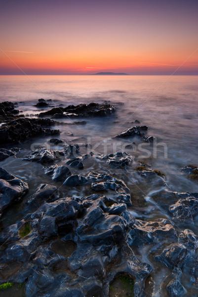 Sunrise irlandais mer république Irlande plage Photo stock © rafalstachura
