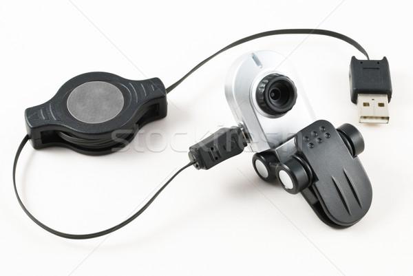 Háló kamera web kamera gemkapocs usb kábel Stock fotó © rafalstachura