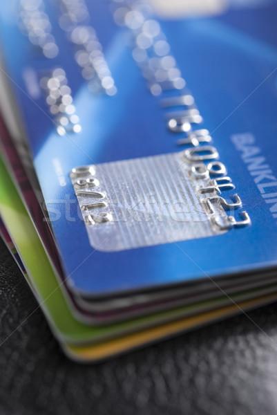 Carte de crédit peu profond affaires argent Photo stock © rafalstachura