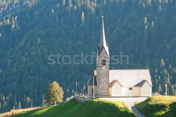 Kerk europese alpen Italië gras gebouw Stockfoto © rafalstachura