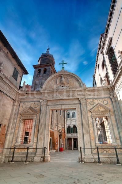église Venise grand angle vue vieux Italie Photo stock © rafalstachura