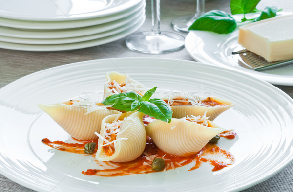 Pasta with salmon Stock photo © rafalstachura